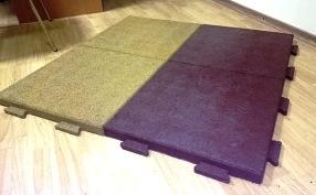 Начало продаж резиновой плитки с креплением «пазл»