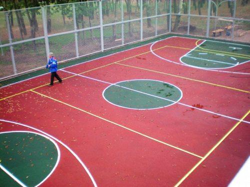 Покрытие для спортивных площадок на улице