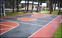 Волейбольно – баскетбольная площадка